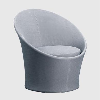 Apollo sillón de aluminio recubierto de textil