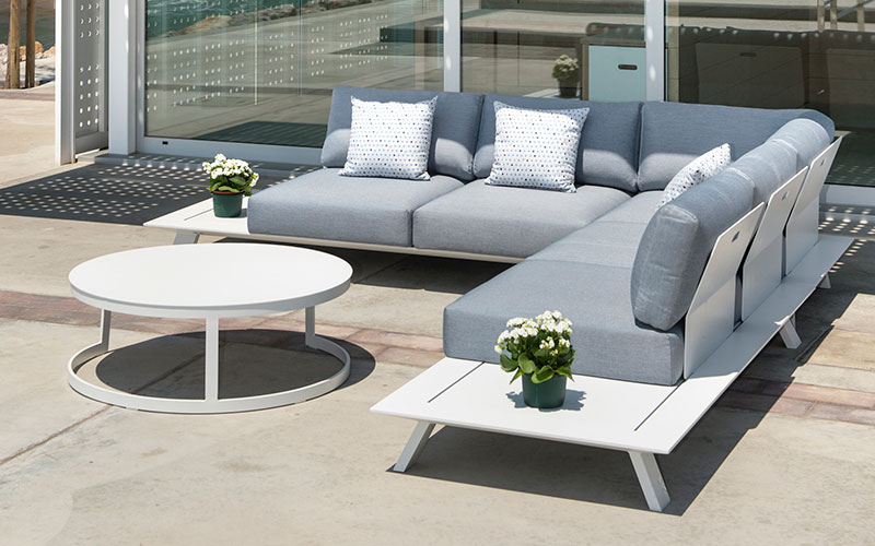 NEVERLAND - Outdoor Sofa and Daybed, Ceramic dining table,Plastic Chair