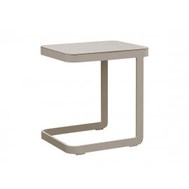 Verona Aluminum side table, 47x40xH50cm